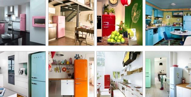 İkinci el kırmızı buzdolabı, renkli retro buzdolapları